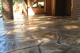 Stamped Concrete Overlay Kansas City